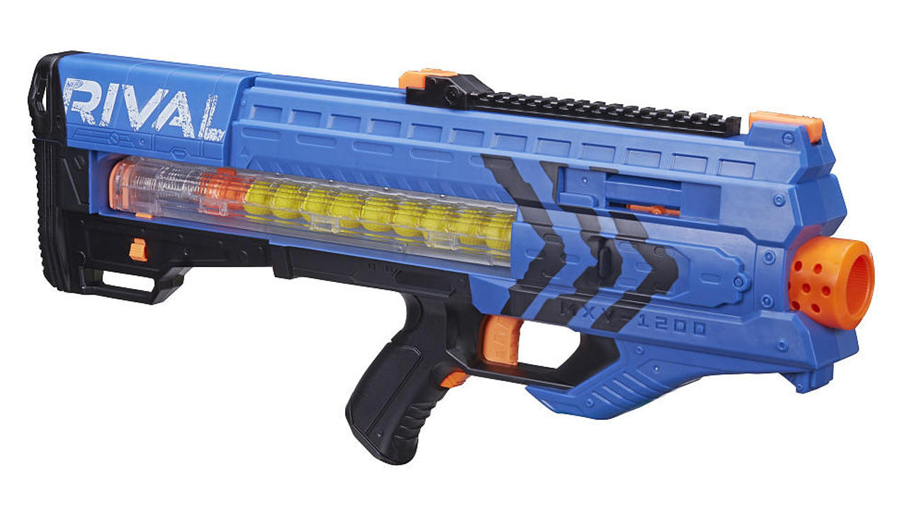 With a six-dart rotating drum and slam fast technology, this nerf gun lets  you shoot six darts in rapid succession. Being able to fire up to 27  metres, ...